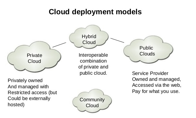 Cloud computing infrastructure models