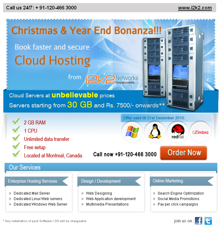 i2k2 Cloud Hosting Offer