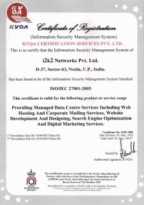 ISO Certificate - 27001:2005