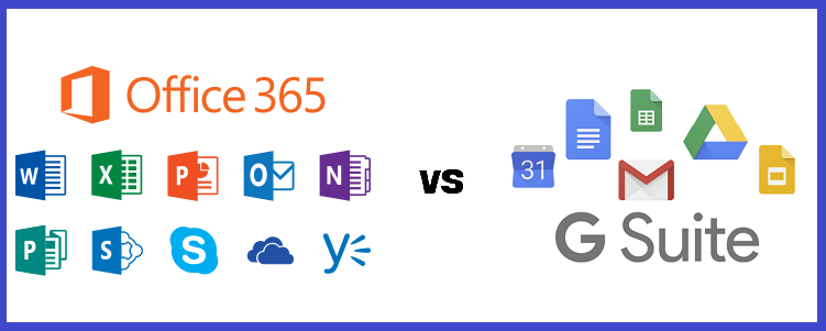 Office 365 vs G Suite - An Unbiased Comparison And Deciding